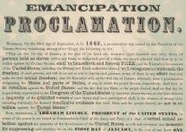Emancipation Proclamation published by Rufus Blanchard, Chicago, ca. 1863–1864. (Gilder Lehrman Collection)