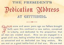Abraham Lincoln, Gettysburg Address, November 19, 1863 (Gilder Lehrman Collection)