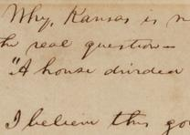 "Abraham Lincoln, notes for the ""House Divided"" speech, ca. December 1857 (Gilder Lehrman Collection)"